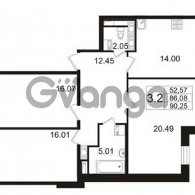 Продается квартира 3-ком 86 м² улица Катерников 1, метро Проспект Ветеранов