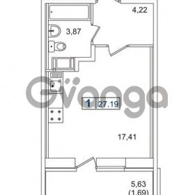 Продается квартира 1-ком 27.19 м² Европейский проспект 14, метро Улица Дыбенко