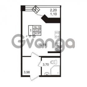 Продается квартира 1-ком 24.97 м² Европейский проспект 14, метро Улица Дыбенко