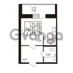 Продается квартира 1-ком 29.78 м² Европейский проспект 14, метро Улица Дыбенко