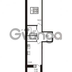 Продается квартира 1-ком 42.86 м² Европейский проспект 14, метро Улица Дыбенко