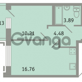 Продается квартира 1-ком 36 м² проспект Народного Ополчения 149, метро Проспект Ветеранов