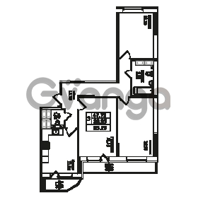 Продается квартира 3-ком 85.19 м² улица Фёдора Абрамова 20к 1, метро Парнас