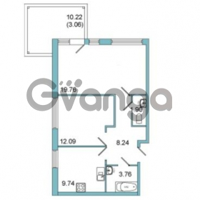Продается квартира 2-ком 55.7 м² Центральная улица 9, метро Парнас