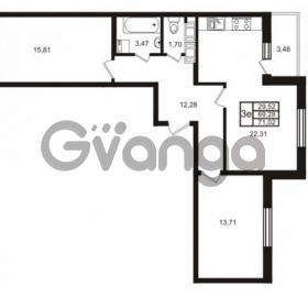 Продается квартира 2-ком 69 м² Комендантский проспект 53к 1, метро Комендантский проспект