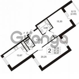 Продается квартира 2-ком 67 м² улица Шувалова 1, метро Девяткино
