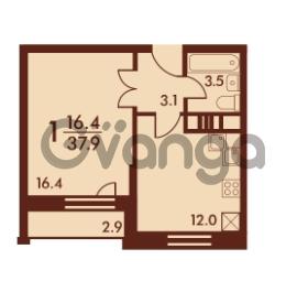 Продается квартира 1-ком 37 м² Петровский бульвар 3, метро Девяткино