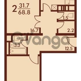Продается квартира 2-ком 68 м² Петровский бульвар 3, метро Девяткино