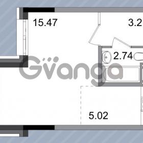 Продается квартира 1-ком 26.44 м² Петергофское шоссе 76к 1, метро Проспект Ветеранов
