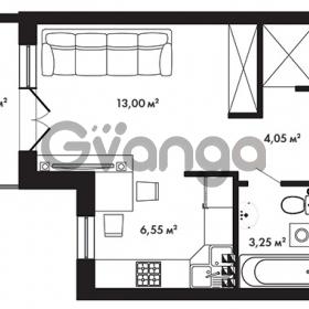 Продается квартира 1-ком 28.8 м² Центральная улица 57, метро Ладожская