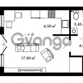 Продается квартира 1-ком 30.85 м² Центральная улица 57, метро Ладожская