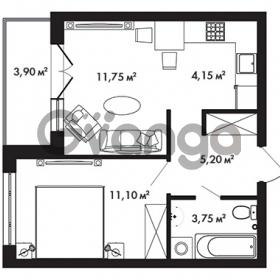 Продается квартира 1-ком 37.9 м² Центральная улица 57, метро Ладожская
