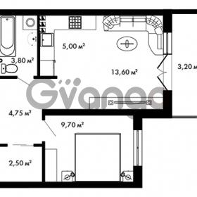 Продается квартира 1-ком 40.95 м² Центральная улица 57, метро Ладожская