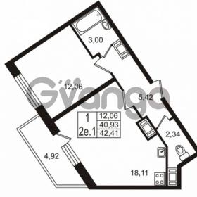 Продается квартира 1-ком 40 м² проспект Строителей 2, метро Улица Дыбенко
