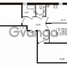 Продается квартира 3-ком 88 м² проспект Строителей 2, метро Улица Дыбенко