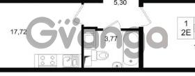 Продается квартира 1-ком 41 м² проспект Строителей 1, метро Улица Дыбенко