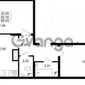 Продается квартира 2-ком 55 м² проспект Строителей 1, метро Улица Дыбенко