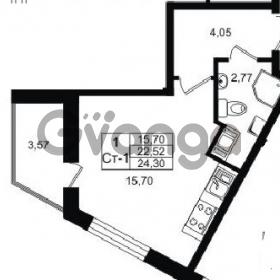 Продается квартира 1-ком 22 м² проспект Строителей 1, метро Улица Дыбенко