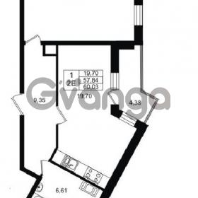 Продается квартира 1-ком 57 м² проспект Строителей 1, метро Улица Дыбенко