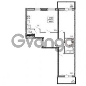 Продается квартира 2-ком 80.04 м² улица Шувалова 1, метро Девяткино
