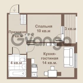 Продается квартира 1-ком 35 м² площадь Европы 1, метро Приморская