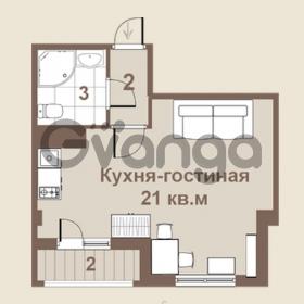 Продается квартира 1-ком 28 м² площадь Европы 1, метро Приморская