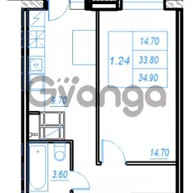 Продается квартира 1-ком 34.9 м² Бестужевская улица 54, метро Ладожская