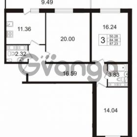 Продается квартира 3-ком 84 м² Венская улица 4к 2, метро Улица Дыбенко