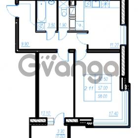 Продается квартира 2-ком 58 м² Бестужевская улица 54, метро Ладожская