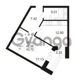 Продается квартира 1-ком 42.06 м² Арсенальная улица 7, метро Девяткино