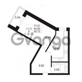 Продается квартира 1-ком 44.05 м² Арсенальная улица 7, метро Девяткино