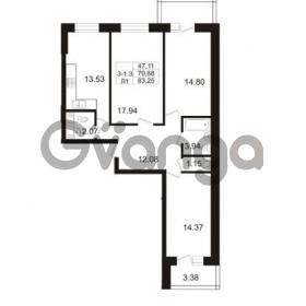 Продается квартира 3-ком 83.25 м² Арсенальная улица 7, метро Девяткино