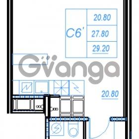 Продается квартира 1-ком 29.2 м² Бестужевская улица 54, метро Ладожская