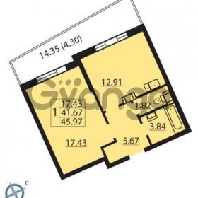 Продается квартира 1-ком 45 м² Балтийский бульвар 1, метро Проспект Ветеранов