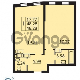 Продается квартира 1-ком 48 м² Балтийский бульвар 1, метро Проспект Ветеранов