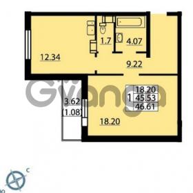 Продается квартира 1-ком 46 м² Балтийский бульвар 1, метро Проспект Ветеранов