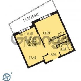 Продается квартира 1-ком 47 м² Балтийский бульвар 1, метро Проспект Ветеранов