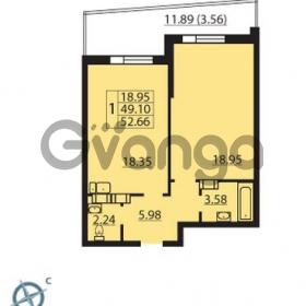 Продается квартира 1-ком 52 м² Балтийский бульвар 1, метро Проспект Ветеранов