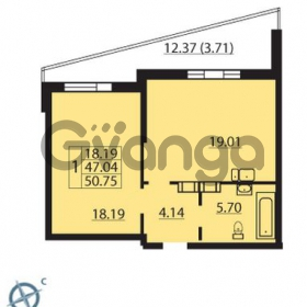 Продается квартира 1-ком 50 м² Балтийский бульвар 1, метро Проспект Ветеранов
