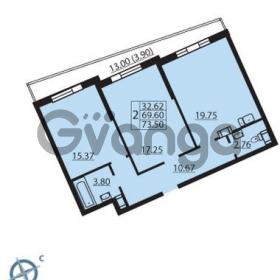 Продается квартира 2-ком 73 м² Балтийский бульвар 1, метро Проспект Ветеранов