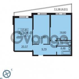 Продается квартира 2-ком 77 м² Балтийский бульвар 1, метро Проспект Ветеранов