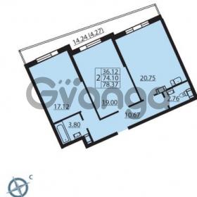 Продается квартира 2-ком 78 м² Балтийский бульвар 1, метро Проспект Ветеранов