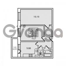 Продается квартира 2-ком 56.61 м² Дачный проспект 21к 2, метро Проспект Ветеранов