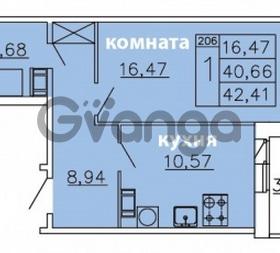 Продается квартира 1-ком 42 м² Ленинградское шоссе 11, метро Проспект Ветеранов