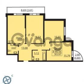 Продается квартира 3-ком 93 м² Балтийский бульвар 1, метро Проспект Ветеранов