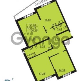 Продается квартира 3-ком 100 м² Балтийский бульвар 1, метро Проспект Ветеранов