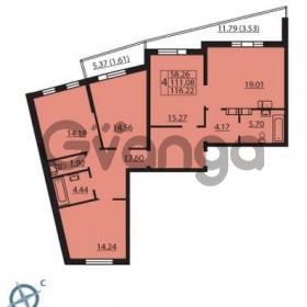 Продается квартира 4-ком 116 м² Балтийский бульвар 1, метро Проспект Ветеранов