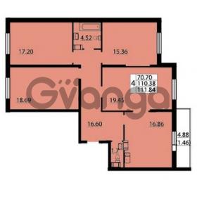 Продается квартира 4-ком 111 м² Балтийский бульвар 1, метро Проспект Ветеранов