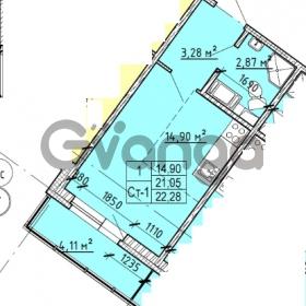 Продается квартира 1-ком 21 м² проспект Строителей 1, метро Улица Дыбенко