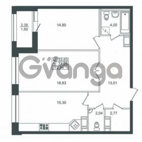 Продается квартира 2-ком 71 м² Ушаковская набережная 3, метро Черная речка